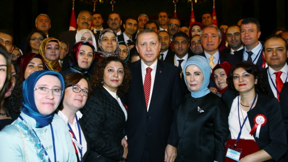 President Erdoğan gave a reception for Minister Avcı and teachers of 81 provinces